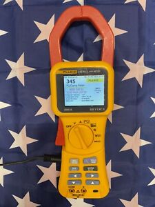 Fluke 345 Power Quality Clamp Meter And Accessories In Soft Case Light Use