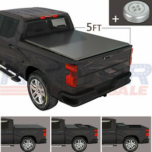 Tri Fold Soft Tonneau Cover 5 Ft Short Bed Fit For Nissan Frontier 2005 2021