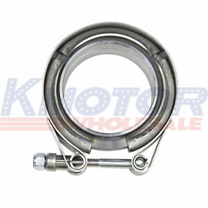Universal V Band Flange Clamp Kit 2 25 Mild Turbo Exhaust Downpipe