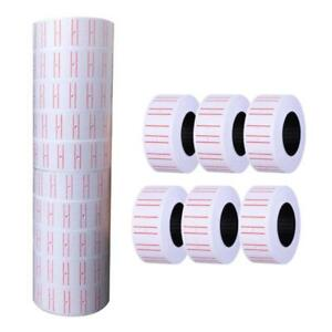10 Rolls Self Adhesive Price Labels Paper Tag Sticker Single Row For Price Gun