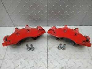 2006 2013 Corvette C6 Z06 Calipers Brakes Painted Red Front 6 Piston