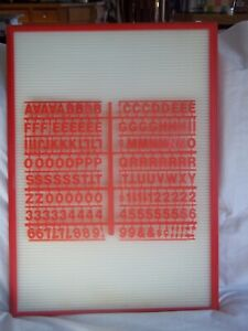 Message Menu Board Sign W 2 Sets Of Your Choice Of Red black blue Letter Sets