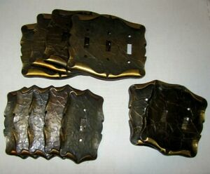 Vintage Amerock Carriage House Lot Of 11 Switch Plate Covers Metal