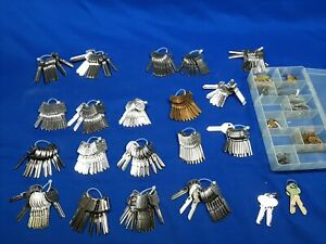 Huge Lot 200 Uncut Ilco New Key Blanks Ford Gm Chrysler Chevy House Lock Brass