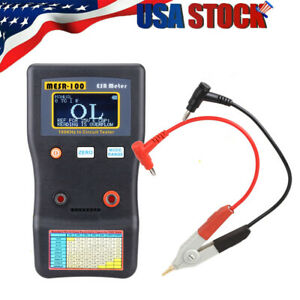 Mesr 100 V2 Esr low Ohm In Circuit Test Capacitor Meter With Smd Clip Probe Usa