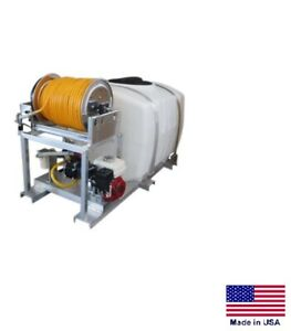 Sprayer Commercial Skid Mounted 9 5 Gpm 580 Psi 5 5 Hp 200 Gal Tank