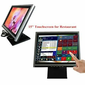 15 Touch Screen Lcd Display Monitor Touch Screen Cash Register W Pos Stand