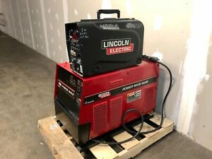 Lincoln Power Wave 455m Welder With Lincoln 25m Suitcase Wire Feeder ships Free