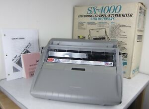 Brother Sx 4000 Electric Typewriter W Lcd Display Dictionary Manual Open Box
