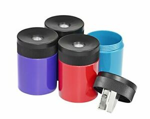 Pencil Sharpener Premium Quality Sharpener With Screw on Lid Prevents 1 Pack