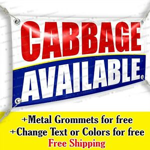 Cabbage Available Custom Vinyl Banner Advertising Sign Bicolor