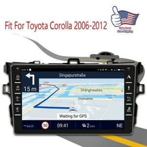 8 Android 9 1 Fit For Toyota Corolla 2006 2012 Car Stereo Radio Quad Core Mp5
