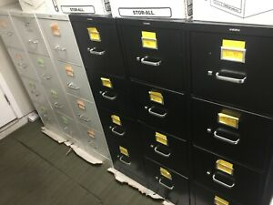 Filing Cabinets Metal 6 Available In Black And White