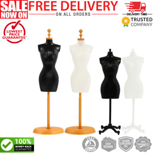 Sewing Dressmakers Female Mannequin Torso Mannequins With Base Stand 4 Pieces
