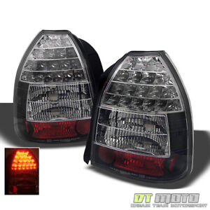 For Black 1996 2000 Honda Civic 3 Door Lumileds Led Tail Lights Lamps Left Right