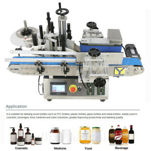 Automatic Rolling Glass Round Bottle Dropper Labeling Packing Sticker Machine