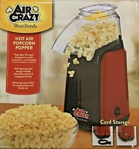West Bend Air Crazy Hot Air Machine 82418r Popcorn Maker Good For Coffee Roaster
