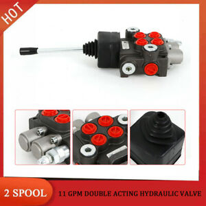 2 Spool Hydraulic Directional Control Valve 11gpm Double Acting Cylinder 40l