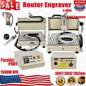 3axis 1 5kw 6040 Cnc Router Metal Engraver Machine Remote Controller F Pcb Wood