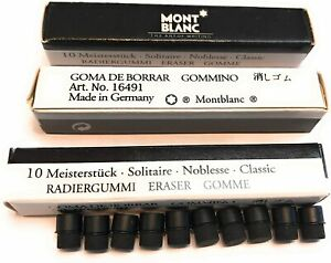 Montblanc Erasers For All Montblanc Pencils 0 5 Or 0 7 In Box 10 Erasers 16491
