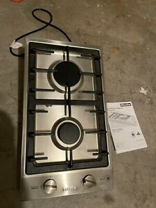 Used Miele Cs1012g Double Gas Stainless Steel Cooktop Range Stove