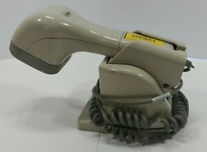 Metrologic Ms6720 Barcode Scanner Usb Adapter And Base Tested Read See Photos