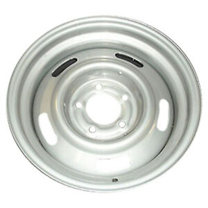 00806 New 15 Inch Compatible Steel Wheel Fits 1969 77 Chevrolet Chevelle Silver