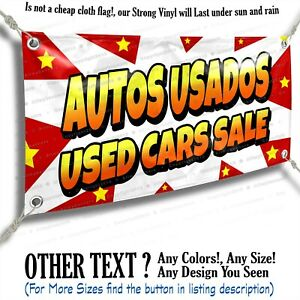 Autos Usados Used Cars Sale Advertising Vinyl Banner Sign Star Flag