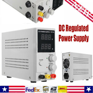 Lab Dc Bench Power Supply Variable 0 30v 0 10a Adjustable Switching Regulated Us