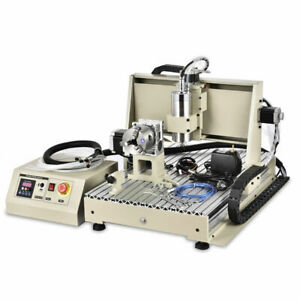 1 5kw 4 Axis Usb Cnc 6040 Router Engraver Drilling Milling Cutting Machine Vfd