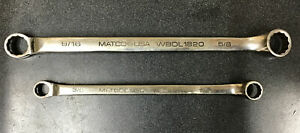 Lot Of Two Matco Tools Wbdl1820 Wbdl1214 Sae Offset Box Wrench 12 Point Usa