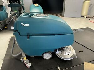2017 Tennant T500e 32 Disk Floor Scrubber With Warranty
