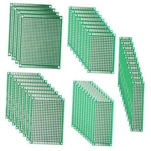 Pcb Double sided Prototyping Pcbs Circuit Boards Kit 5 Size Universal 40pcs
