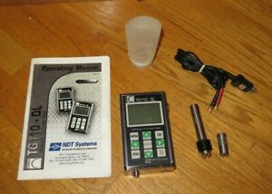 Ndt Systems Nova Tg110 dl Ultrasonic Thickness Gauge With Tg 506 Tq 506 Probes