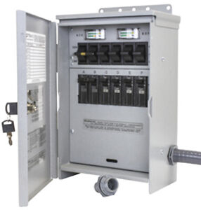 New Reliance R306a Pro tran 2 30 amp 120 240v 6 circuit Outdoor Transfer Switch
