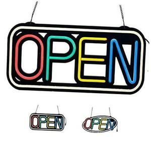 Led Neon Open Sign For Business Super Bright 18 5x9 25in Rectanglefram