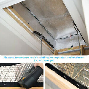 Insulation Cover Pure Aluminum Home Fireproof Waterproof Attic Stairs Garden