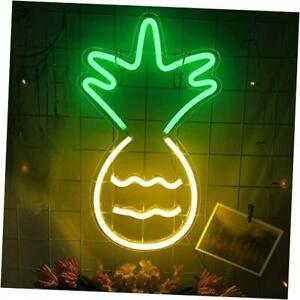 Pineapple Neon Sign Led Light Usb Operated 3d Art Led Neon Lights Signs For