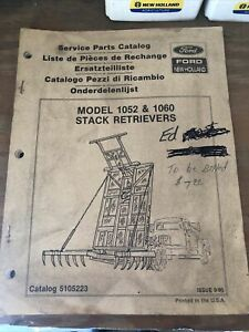 New Holland 1052 1060 Stack Retriever Parts Manual 5105223 Issue 9 90
