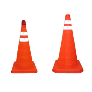 Collapsible Reflective Road Safety Folding Traffic Cone Outdoor Warning Sign