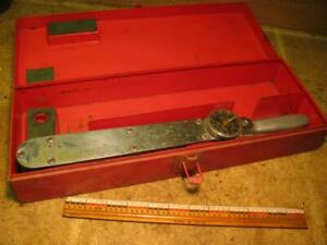 Vintage Snap On Tq150 Torqmeter Torque Wrench With Metal Case Toolbox 1 2 Drive
