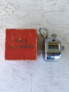 Tally One Hand Model Tally Counter Registers 0 9999 Chrome