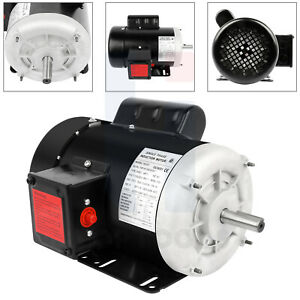 1 Hp Electric Motor Single Phase 5 8 Shaft 1800 Rpm 56 Frame Enclosure Cw ccw
