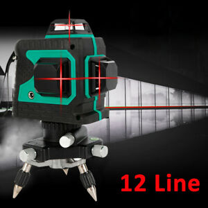 New 3d Laser Level Red Light Laser 12 Lines Self leveling Tool For Construction