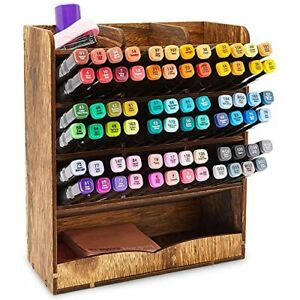 Wooden Desk Organizer For Pens Markers Office Supplies 8 5 X 10 X 3 7 In