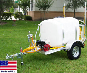 Sprayer Commercial Trailer Mounted 12 Ft Boom 200 Gallon Highway Ready