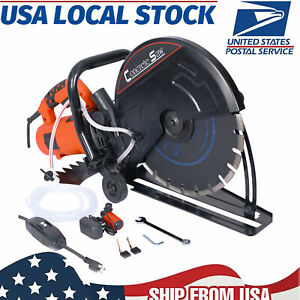 Electric Power Handheld 14 Wet dry Concrete Cut Off Saw Cutter watertube blade