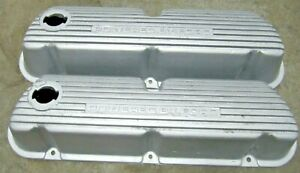 Powered By Ford Finned Aluminum Valve Covers Sbf 260 289 302 5 0 Mustang Nice
