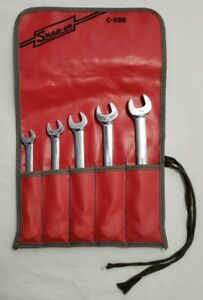 Snap on Tools Underline Logo Flare Wrench Set With C 50b Bag