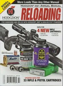 From Shooting Times: Hodgdon 2021 Annual Manual Reloading for Handguns amp; Rifles $9.99